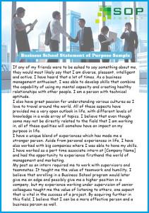 format of business school statement of purpose