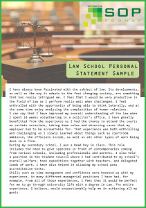 what is law school personal statement format
