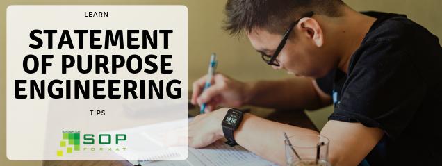 Statement of Purpose Engineering Tips