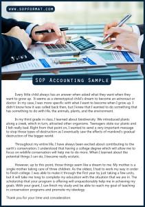 sop accounting sample