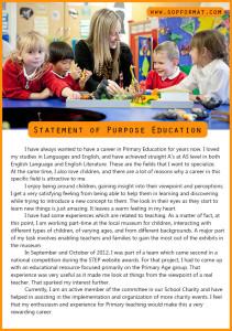 statement of purpose education