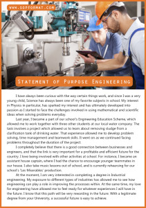statement of purpose engineering