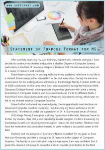 statement of purpose format for ms